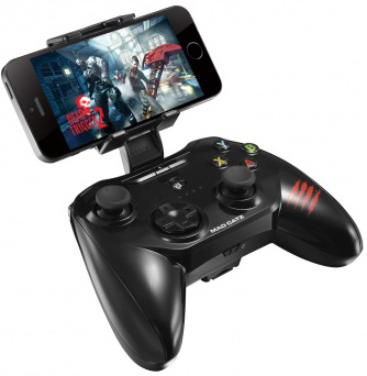 Геймпад беспроводной для iPhone и iPad Mad Catz C.T.R.L.i Mobile Gamepad Gloss BlackГеймпад Mad Catz C.T.R.L.i Mobile Gamepad Gloss Black для iPhone и iPad  для консольных игр<br>