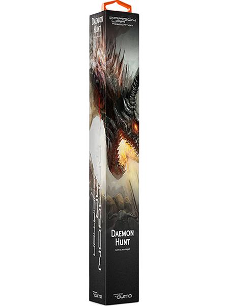 Коврик для мыши Dragon War Daemon HuntКоврик Dragon War Daemon Hunt &amp;ndash; идеальная игровая поверхность для геймера: невероятная отзывчивость сенсора мыши, нулевое скольжение коврика по столу! Сотовая микро-текстура для экстремальной точности отслеживания сенсора мыши. Ультра-тонкий профиль &amp;ndash; всего 3 мм толщиной.<br>