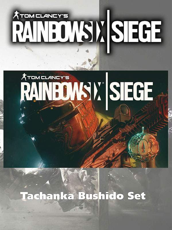 Tom Clancys Rainbow Six: Осада – Комплект Tachanka Бусидо. Дополнительные материалы [PC, Цифровая версия] (Цифровая версия)С Tom Clancys Rainbow Six: Осада – Комплект Tachanka «Бусидо» – разблокируйте раскраску «Бурая сталь» для 9x19VSN, элемент персонализации «Hoshi Oni» и значок «Gunba».<br>