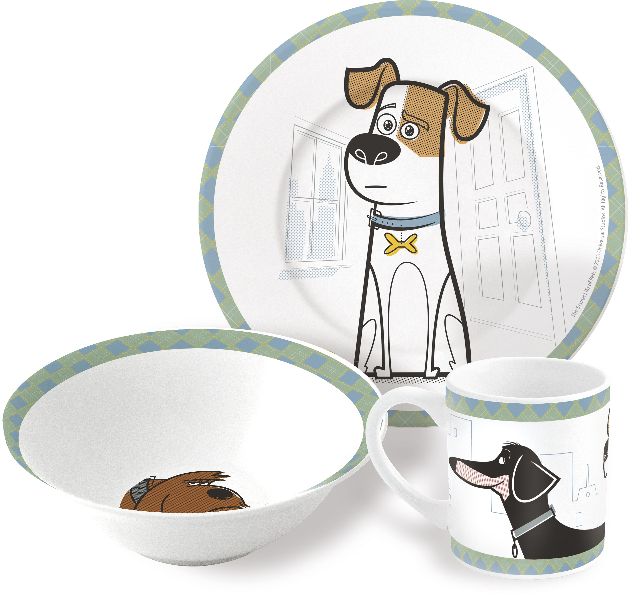 Набор посуды Тайная жизнь домашних животныхНабор посуды Тайная жизнь домашних животных создан по мотивам популярной американской анимационной комедии, рассказывающей о жизни домашних питомцев.<br>