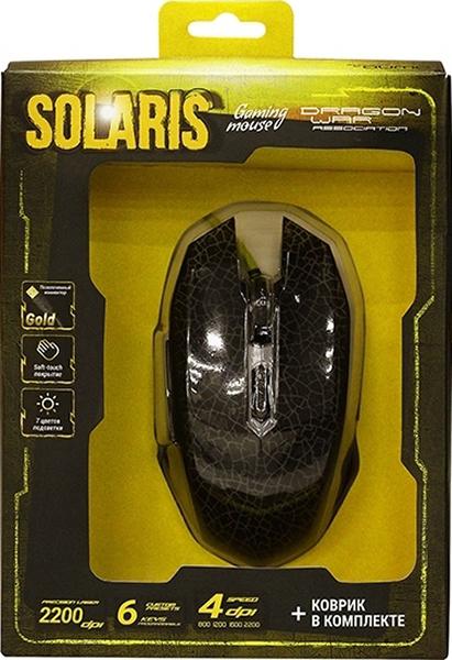 Мышь Qumo Dragon War Solaris M10 проводная оптическая + коврик для PC манипулятор qumo dragon war blackout 3200 dpi usb