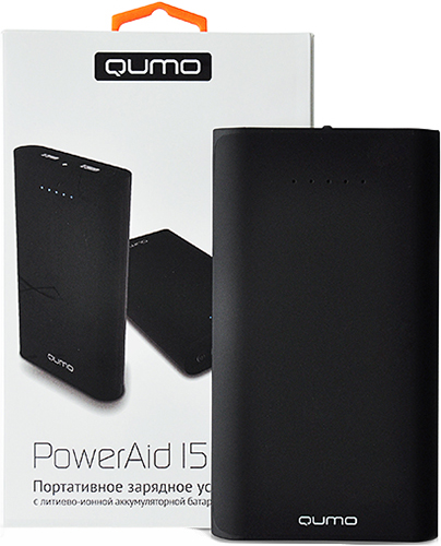 Портативное зарядное устройство Qumo PowerAid 15600Портативная аккумуляторная батарея Qumo PowerAid 15600 позволит в любой момент без доступа к электрической сети зарядить аккумулятор вашего смартфона, планшетного компьютера, телефона, МР3-плеера или другого электронного устройства, заряжаемого от разъема USB.<br>