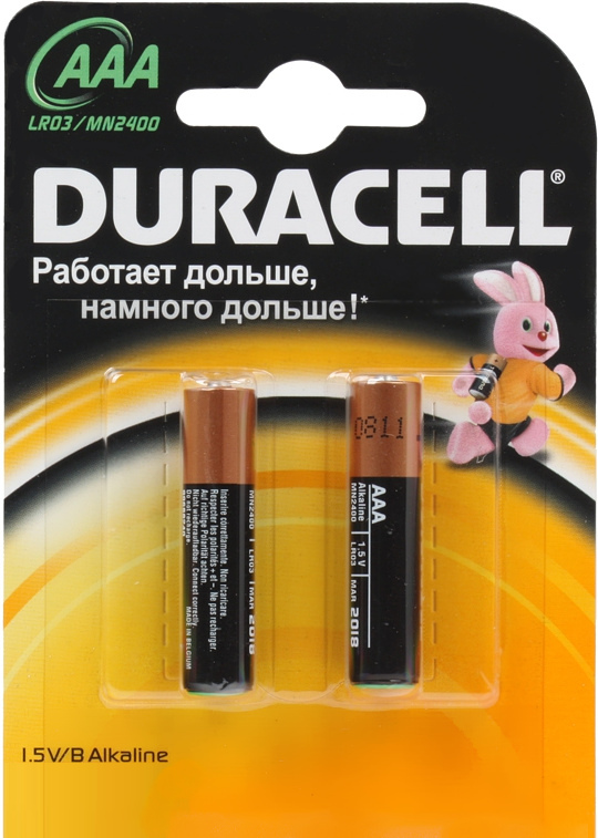 Элемент питания Duracell LR03-BC2 AAA (2 шт.)