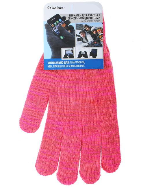Перчатки для сенсорных экранов Belsis (розовые, M) перчатки castlelady перчатки розовые