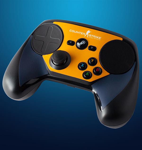 Комплект накладок CSGO Blue/Orange для Steam Controller