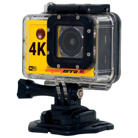 Экшн камера Smarterra W5 (желтый)Экшн камера Smarterra W5 4K@30fps, 2 дисплей, угол обзора 170, WIFI, желтая<br>