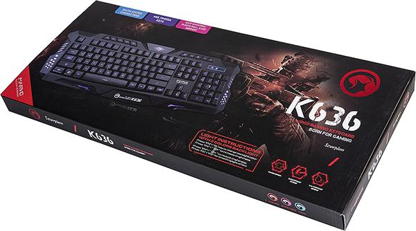 все цены на Клавиатура Marvo K636 проводная игровая с подсветкой для PC