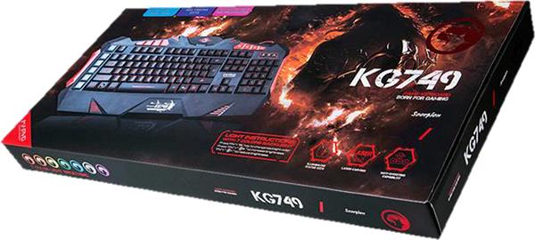 все цены на Клавиатура Marvo KG749 проводная игровая с подсветкой для PC