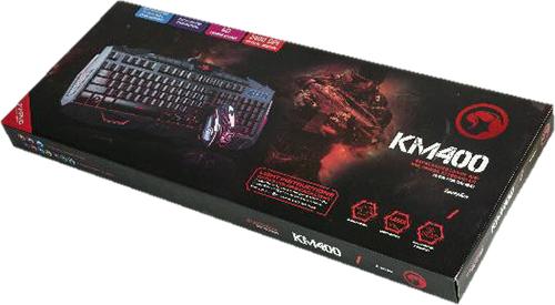 Клавиатура Marvo KM800 / KM400 + мышь для PCКомплект Marvo KM800 / KM400 состоит из стильной и функциональной игровой мембранной клавиатуры с подсветкой и оптической мыши.<br>