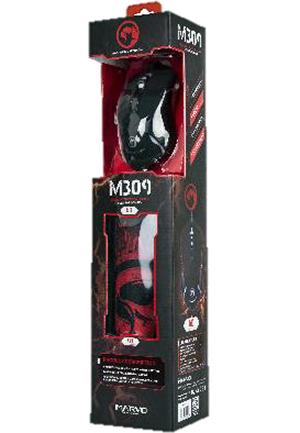 Мышь M309+G1 проводная оптическая игровая + матерчатый коврик для PCКомплект Marvo M309+G1 состоит из игровой оптической мыши с подсветкой и фирменного матерчатого коврика для мыши.<br>