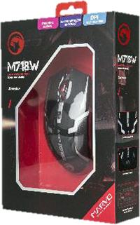 Мышь Marvo M718W беспроводная оптическая игровая для PCБеспроводная игровая оптическая мышь Marvo M718W позволит вам чувствовать себя уверенно и комфортно в любимых играх.<br>