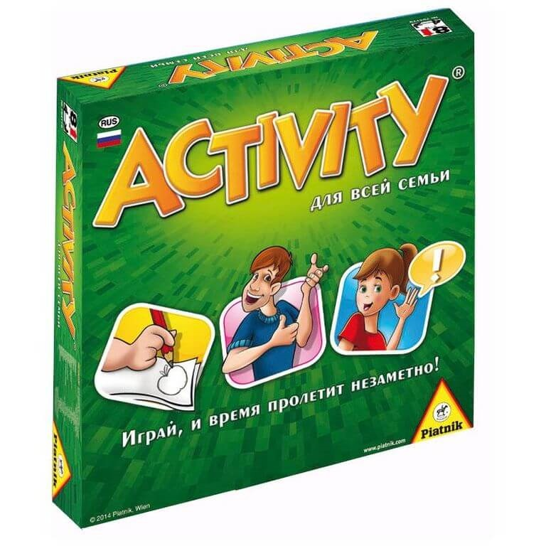 Настольная игра Activity для всей семьиПеред вами новинка из всемирно известной серии настольных игр Активити. Игры этой серии легко приживаются и в семейном кругу, и на молодёжной вечеринке.<br>
