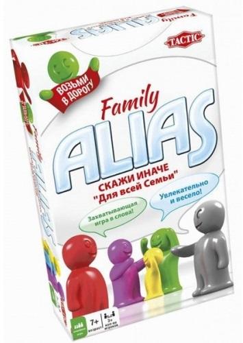 Настольная игра ALIAS: Для всей семьи – 2Говорите иначе! Основная задача игры ALIAS: Для всей семьи – объяснять друг другу слова с карточек на время, не используя однокоренные.<br>