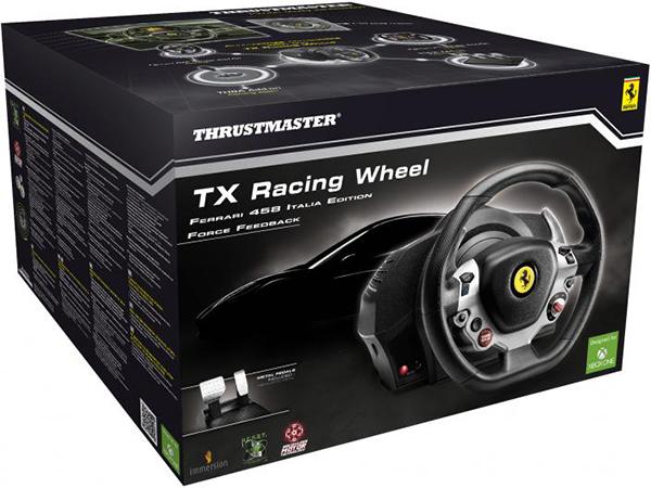 Гоночный руль Thrustmaster TX RW Ferrari 458 для PC / Xbox OneThrustmaster TX RW Ferrari 458 &amp;ndash; первый на массовом рынке руль с функцией Force Feedback и мотором типа brushless промышленного класса. Съемный руль и металлический педальный блок. Основной продукт из серии TX Racing Wheel.<br>