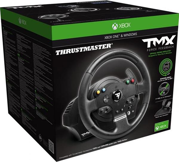 Гоночный руль Thrustmaster TMX FFB EU Version для PC / Xbox OneРулевая система с силовой обратной связью 900° Thrustmaster TMX FFB EU Version включает реалистичный 28-см руль и большой педальный блок в комплекте.<br>
