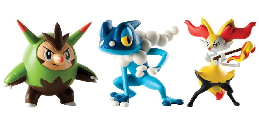 Набор фигурок Pokemon: Quilladin, Braixen и FrogadierЛюбимцы региона Калос, Квилладин, Брейксен и Фрогадир, появляются в этом триумфальном наборе!<br>