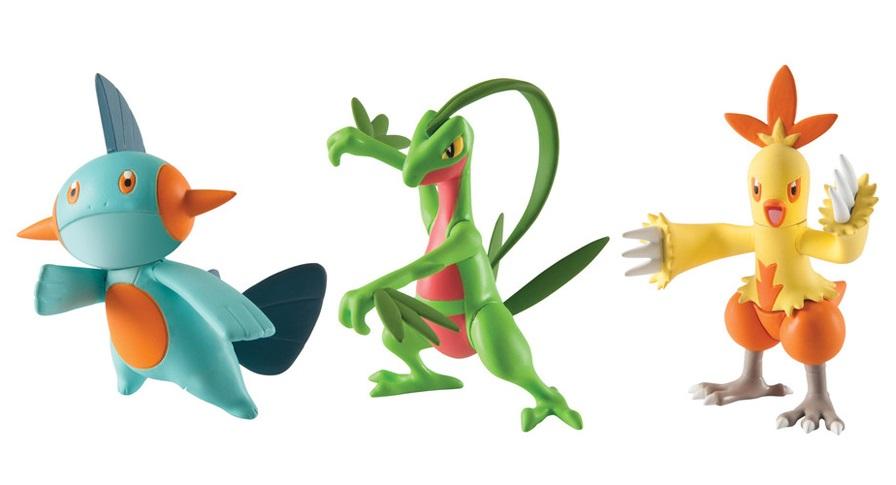 Набор фигурок Pokemon: Grovyle, Combusken и MarshtompЛюбимцы региона Хоэнн, Комбаскен, Марштомп и Гровайл, появляются в этом триумфальном наборе!<br>