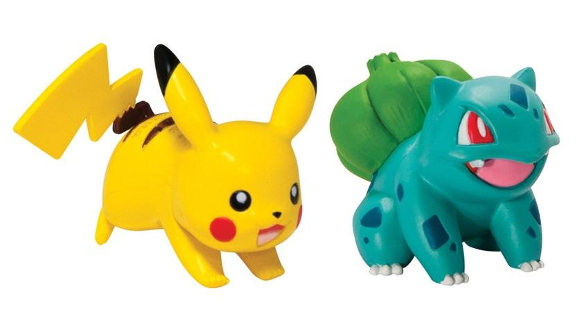 Набор фигурок Pokemon: Bulbasaur vs. PikachuПоймайте всеми любимого покемона Пикачу и одного из стартовых покемонов региона Канто, Бульбазавра, в свою коллекцию!<br>