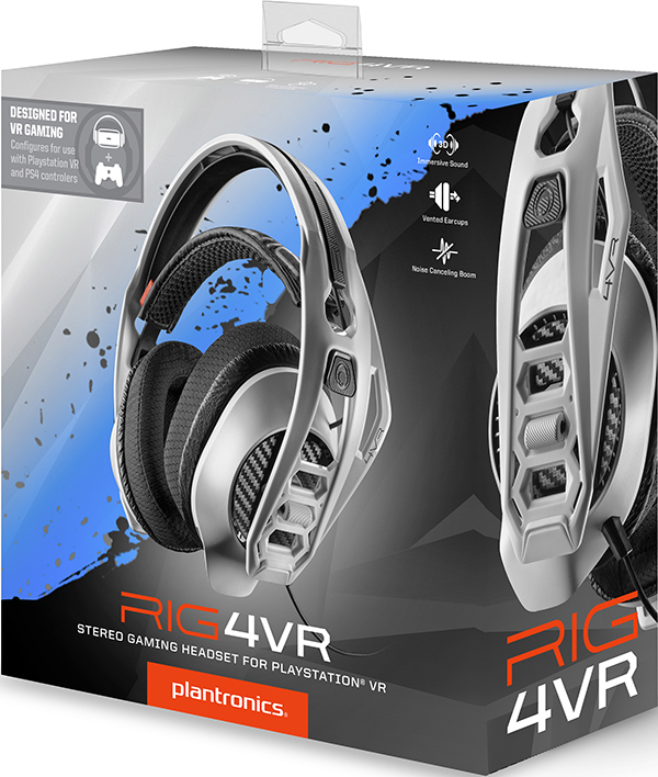 Игровая гарнитура Plantronics RIG 4VR для PS4RIG 4VR &amp;ndash; это готовое аудиорешение для пользователей игровых консолей PS4, комплектуемое сменными кабелями для подключения к беспроводным контроллерам PlayStation VR и PlayStation 4.<br>