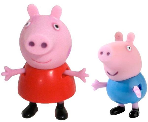 Набор фигурок Peppa Pig: Пеппа и Джордж peppa pig мягкая игрушка джордж с динозавром 40см