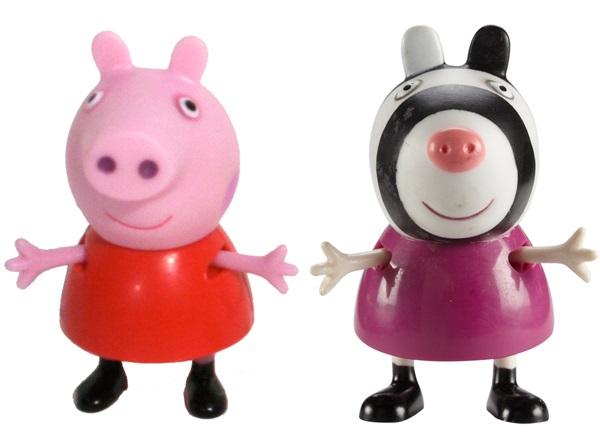 Набор фигурок Peppa Pig: Пеппа и ЗоиВаш малыш любит мультсериал Свинка Пеппа? Тогда вам идеально подойдет набор Пеппа и Зои с двумя очаровательными фигурками друзей веселой свинки.<br>