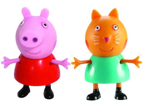 Набор фигурок Peppa Pig: Пеппа и КендиВаш малыш любит мультсериал Свинка Пеппа? Тогда вам идеально подойдет набор Пеппа и Кенди с двумя очаровательными фигурками друзей веселой свинки.<br>