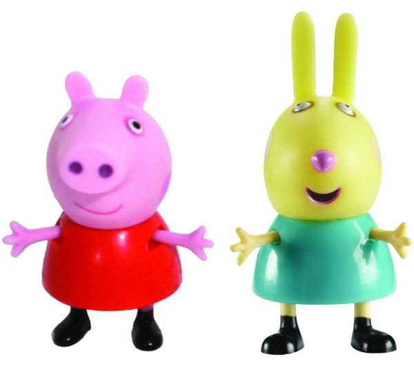 Набор фигурок Peppa Pig: Пеппа и РебеккаВаш малыш любит мультсериал Свинка Пеппа? Тогда вам идеально подойдет набор Пеппа и Ребекка с двумя очаровательными фигурками друзей веселой свинки.<br>
