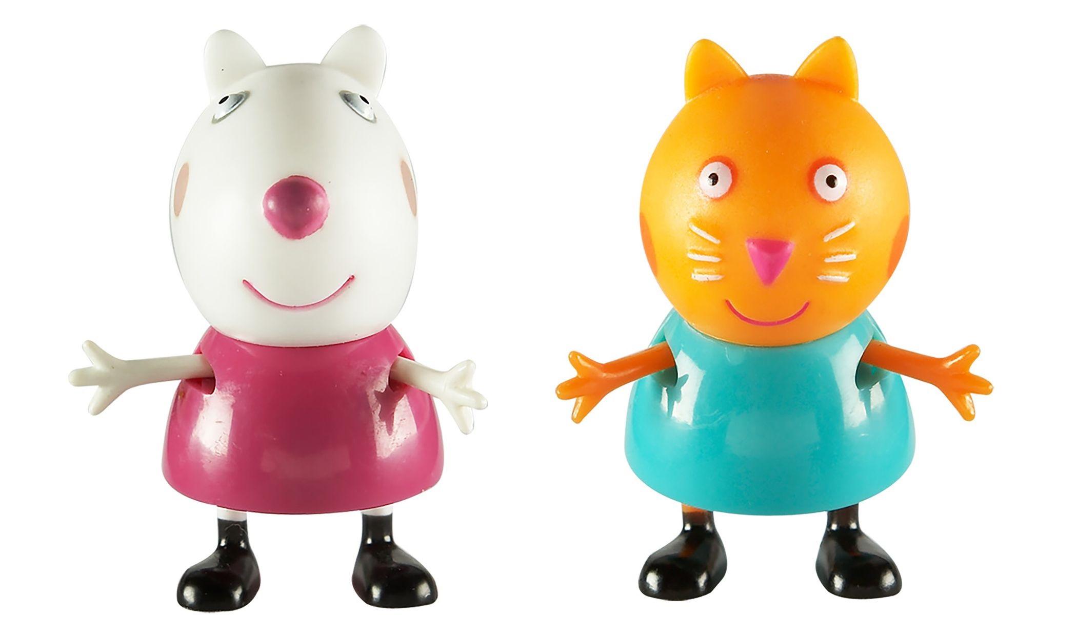 Набор фигурок Peppa Pig: Сьюзи и КендиВаш малыш любит мультсериал Свинка Пеппа? Тогда вам идеально подойдет набор Сьюзи и Кенди с двумя очаровательными фигурками друзей веселой свинки.<br>