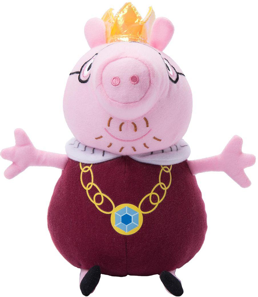 Мягкая игрушка Peppa Pig: Папа Свин король (30 см)Обаятельная мягкая игрушка Папа Свин король – это отличный подарок для вашего малыша. С ней можно весело играть днем и сладко спать ночью.<br>