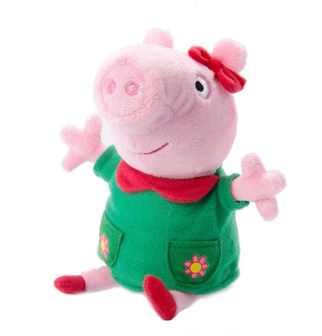 Мягкая игрушка Peppa Pig: Пеппа модница со звуком (20 см)Девочки обожают наряжаться, а также менять наряды на своих любимых игрушках, поэтому очаровательная Пеппа-модница восхитит любую малышку! Свинка Пеппа говорит смешные и обучающие фразы, рассказывает стихи о моде и красоте, дает полезные советы и поет песенку «Радуга» из мультфильма.<br>