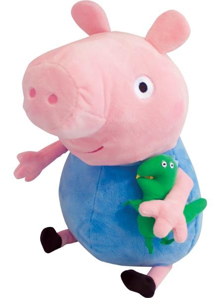 Мягкая игрушка Peppa Pig: Джордж с динозавром (40 см) мягкая игрушка peppa pig джордж с машинкой свинка розовый текстиль 18 см 29620