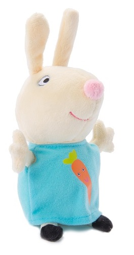 Мягкая игрушка Peppa Pig: Ребекка с морковкой (20 см) мягкая игрушка peppa pig джордж с машинкой свинка розовый текстиль 18 см 29620