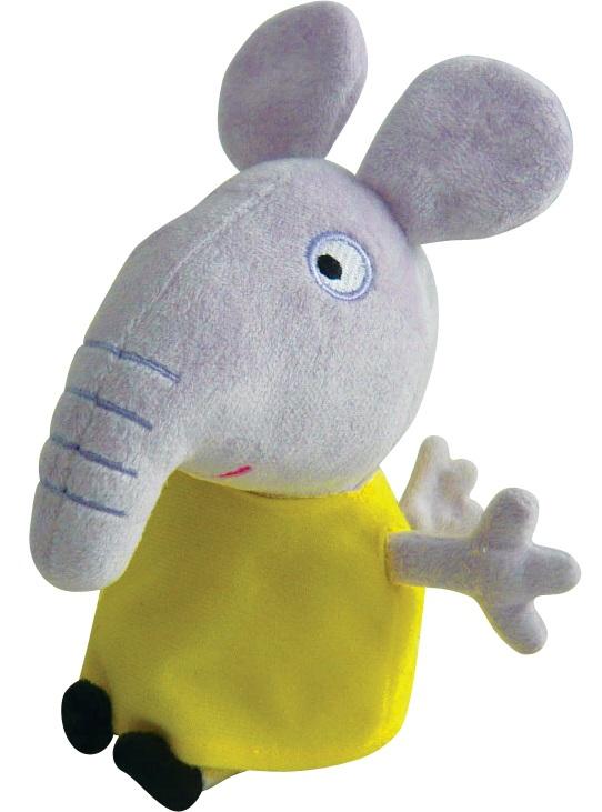 Мягкая игрушка Peppa Pig: Слоник Эмили (20 см)Ваш малыш любит мультсериал Свинка Пеппа? Тогда Слоник Эмили из серии Peppa Pig станет замечательной подругой для малютки. Эмили одета в милое желтое платьице, которое можно снимать и надевать.<br>
