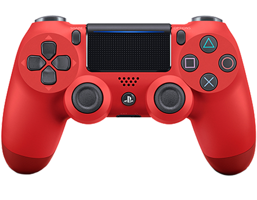 Беспроводной геймпад DualShock 4 Cont Magma Red для PS4 (красный)Беспроводной геймпад DualShock 4 – контроллер нового поколения для новой эры видеоигр, который представляет собой большой шаг вперед в развитии игровых устройств управления.<br>