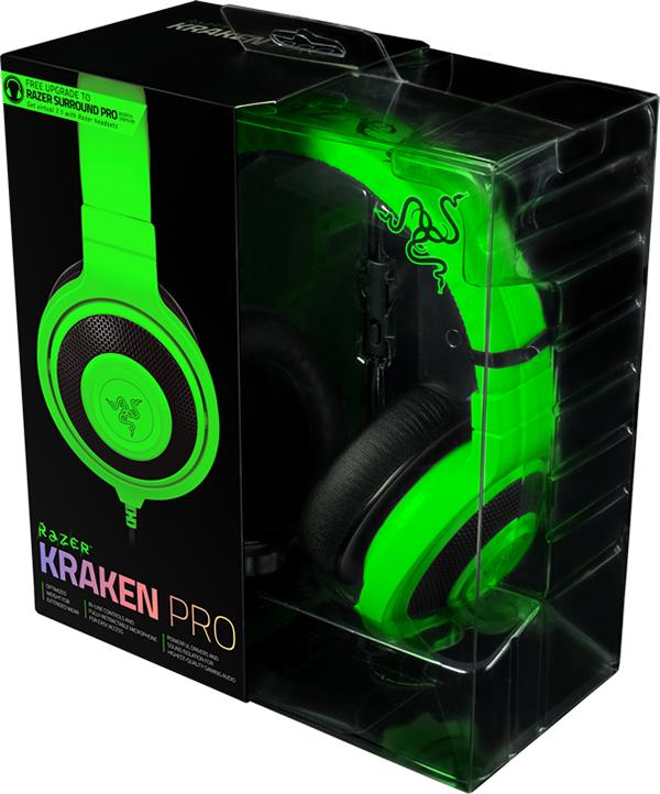 Гарнитура Razer Kraken Pro 2015 для PC (зеленая)Идеальное сочетание веса, практичности и качества, Razer Kraken Pro 2015 без сомнений является самой удобной игровой гарнитурой.<br>