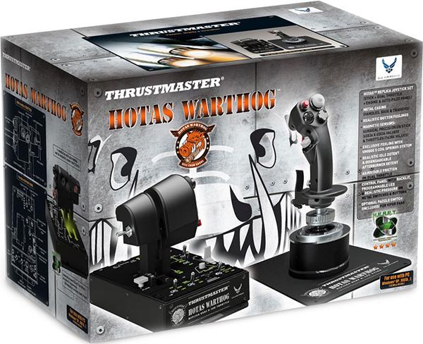 Джойстик Thrustmaster Hotas Warthog для PCДжойстик Thrustmaster Hotas Warthog  оснащен двумя рычагами управления двигателем, съемной металлической рукояткой и панелью контроля.<br>