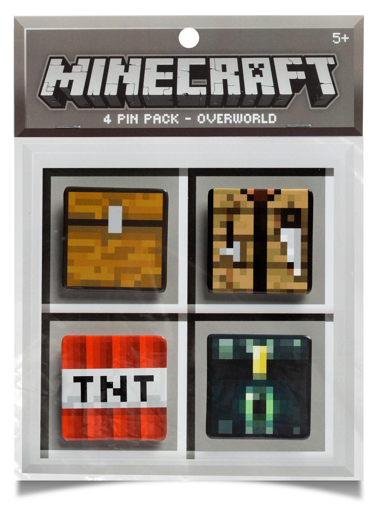цена на Набор значков Minecraft: Overworld (4 шт.)
