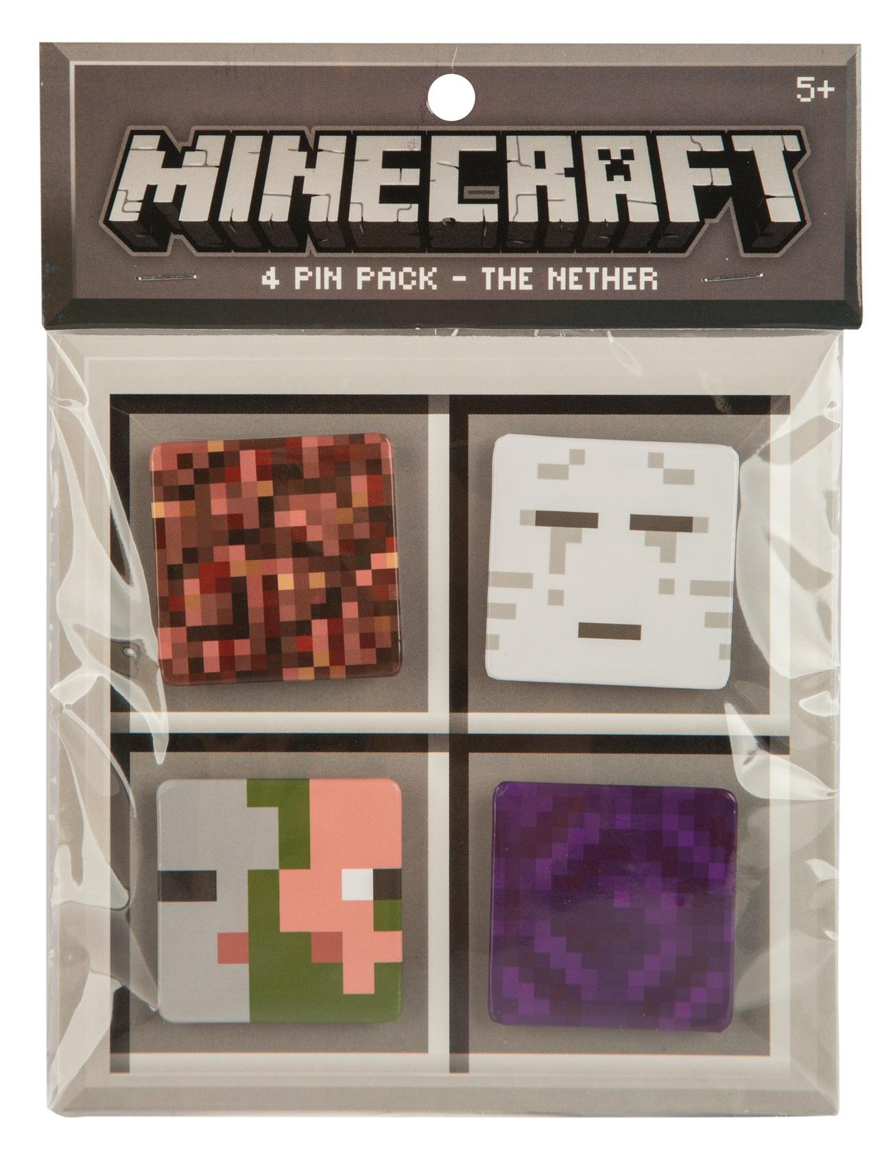 Набор значков Minecraft: Nether (4 шт.)Набор значков Minecraft: Nether создан для настоящих ценителей компьютерной игры Майнкрафт.<br>