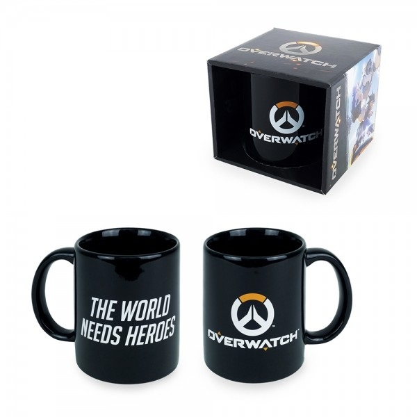Керамическая кружка Overwatch: Logo (330 мл)Керамическая ружка Overwatch: Logo с логотипом «Патруля» и лозунгом «Мир нуждается в героях» создана по мотивам многопользовательского шутера от первого лица от компании Blizzard Entertainment.<br>