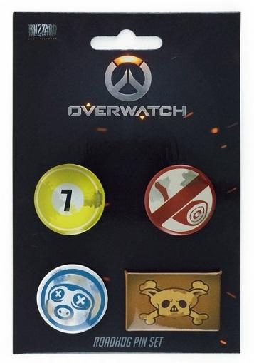 Набор значков Overwatch: Roadhog (4 шт.)Набор значков Overwatch: Roadhog создан по мотивам многопользовательского шутера от первого лица от компании Blizzard Entertainment.<br>