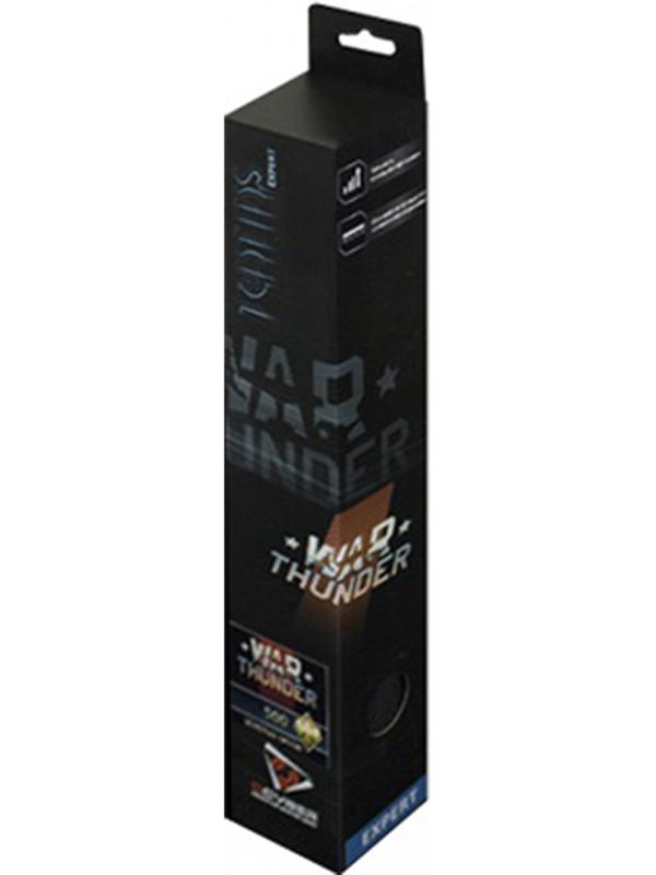 Коврик Qcyber Taktiks Expert War Thunder для PCДля защиты от повреждений и предотвращения износа края игровой поверхности обработаны оверлоком, что заставляет время её использования стремиться к бесконечности Qcyber Taktiks Expert War Thunder будет служить вам верно и долго, позволяя полностью сосредоточиться на игровом процессе.<br>