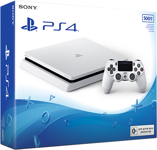 Sony PlayStation 4 Slim (500 GB) Glacier White от 1С Интерес