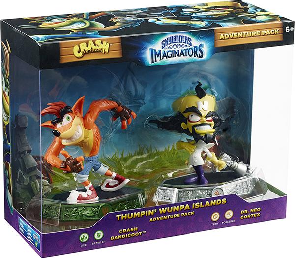 Skylanders Imaginators: Набор Adventure Pack № 2 (Crash Bandicoot /Life и Dr.Neo Cortex/Tech)Набор включает фигурку сэнсэя Crash Bandicoot (стихия Life) и фигурку сэнсея Dr.Neo Cortex (стихия Tech).<br>