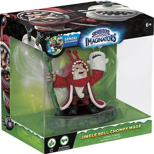 Skylanders Imaginators: Интерактивная фигурка Сэнсэй Chompy Mage Jingle Bell (стихия Life)Хотите &amp;ndash; верьте, хотите &amp;ndash; нет, но Chompy Mage действительно появился на свет из стручка чомпи! По крайней мере, именно эту версию рассказывает его кукла на руке. Не приходится удивляться тому, что старый волшебник немного чудаковат, ведь его воспитали чомпи. Он вырос с идеей о том, что Скайленд стал бы куда лучше, если бы каждый его житель превратился в чомпи.<br>