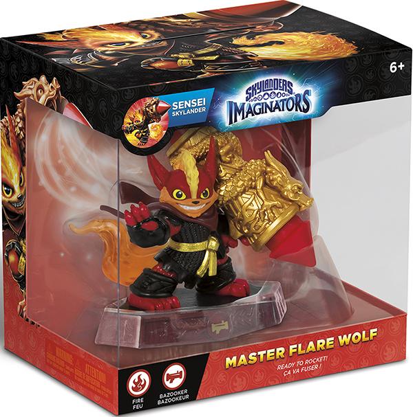 Skylanders Imaginators: Интерактивная фигурка Сэнсэй Flare Wolf (стихия Fire)