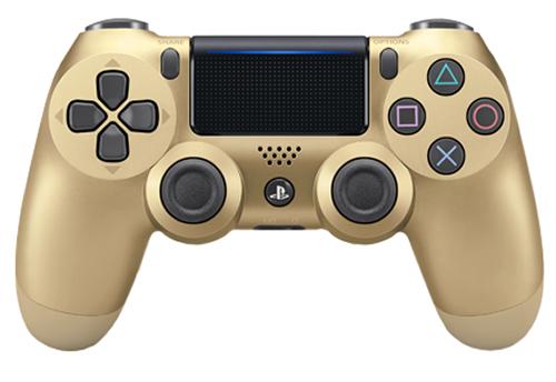 Беспроводной геймпад DualShock 4 Cont Gold для PS4 (золотой)Беспроводной геймпад DualShock 4 – контроллер нового поколения для новой эры видеоигр, который представляет собой большой шаг вперед в развитии игровых устройств управления.<br>