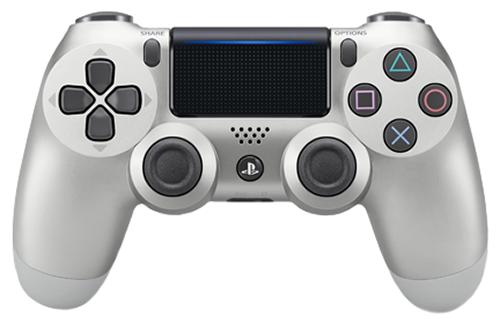 Беспроводной геймпад DualShock 4 Cont Silver для PS4 (серебряный) аксессуары для игровых приставок sony dualshock 4 black