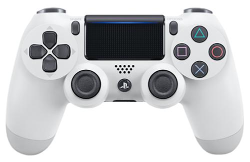 Беспроводной геймпад DualShock 4 Cont Glacier White для PS4 (белый)