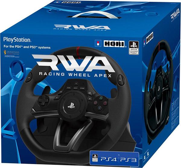 Гоночный руль Hori Racing Wheel APEX для PS4 / PS3Представляем вашему вниманию руль Hori Racing Wheel APEX, который имеет официальную лицензию Sony, что гарантирует ему идеальное качество. С рулем Hori Racing Wheel вы несомненно станете королем симуляторов. Делайте лихие виражи, ведь руль может поворачиваться на 270 градусов. Ну и конечно комплект дополнят педали для создания более реалистичного ощущения игры.<br>
