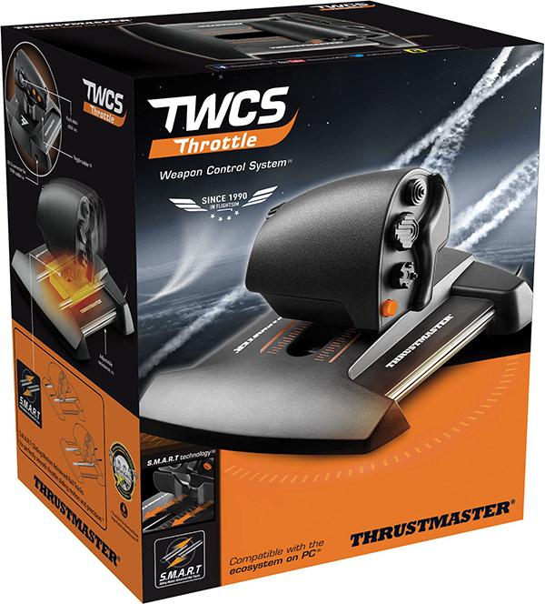 Джойстик Thrustmaster Руд TWCS Throttle для PCРычаг управления Thrustmaster Руд TWCS (Thrustmaster Weapon Control System) Throttle &amp;ndash; возможность использовать левую руку для повышения скорости ведения боя и управления космическим кораблем или истребителем С технологией S.M.A.R.T (Sliding Motion Advanced Rail Tracks): пять (+ три) осей + 14 кнопок + 8-позиционный переключатель точки обзора.<br>